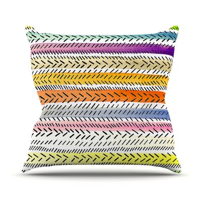 Dash 3 by Sreetama Ray Dashed Paint Throw Pillow Size: 16 H x 16 W x 3 D
