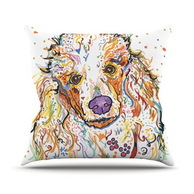 Lily Throw Pillow Size: 18 H x 18 W
