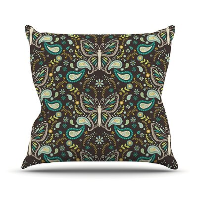 Butterfly Garden by Suzie Tremel Throw Pillow Size: 16 H x 16 W x 3 D