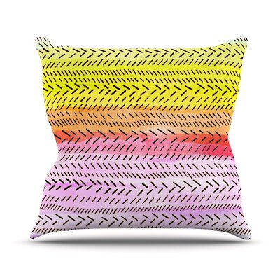 Sunshine by Sreetama Ray Warm Paint Throw Pillow Size: 20