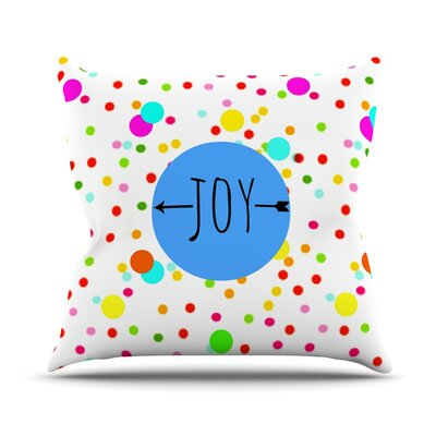 Oh Joy by Sreetama Ray Rainbow Throw Pillow Size: 16 H x 16 W x 3 D