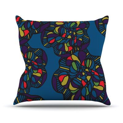 Mushroom Flower by Sonal Nathwani Throw Pillow Size: 16 H x 16 W x 3 D
