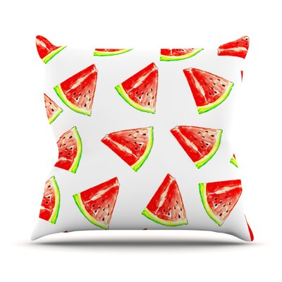 Summer Fun by Sreetama Ray Watermelon Throw Pillow Size: 18 H x 18 W x 3 D