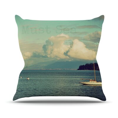 Must Sea by Robin Dickinson Ocean Throw Pillow Size: 20 H x 20 W x 4 D