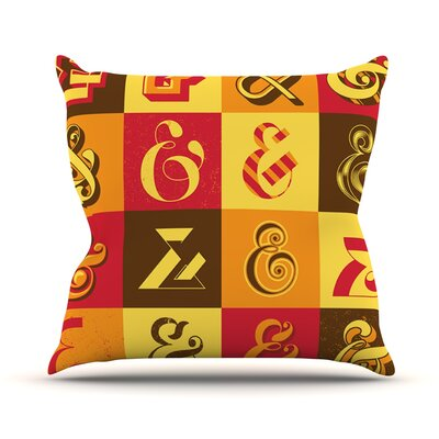 Ampersands by Roberlan Typography Throw Pillow Size: 16 H x 16 W x 3 D