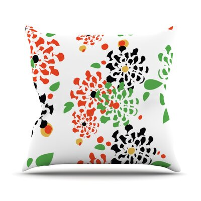 Multi Bouquet by Sonal Nathwani Throw Pillow Size: 26 H x 26 W x 5 D