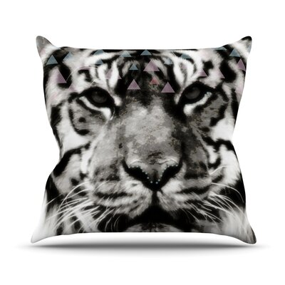 Tiger Face by Suzanne Carter Animal Throw Pillow Size: 18 H x 18 W x 3 D