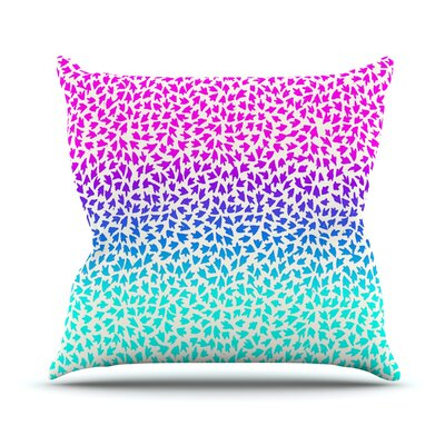 Ombre Arrows by Sreetama Ray Throw Pillow Size: 18 H x 18 W x 3 D