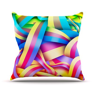 Medal by Roberlan Rainbow Lines Throw Pillow Size: 16 H x 16 W x 3 D