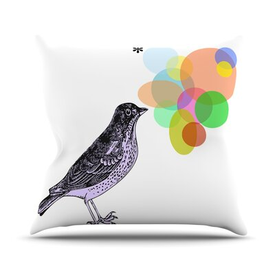 Candy Birds by Sreetama Ray Geometry Bird Throw Pillow Size: 18