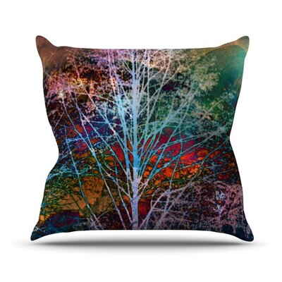 Trees in the Night Throw Pillow Size: 18 H x 18 W