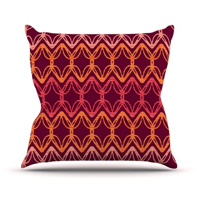 Rick Rack by Suzie Tremel Throw Pillow Size: 18 H x 18 W x 3 D