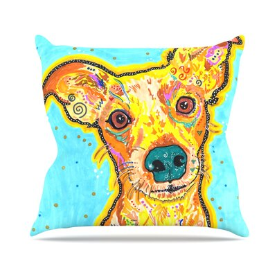 Tanner by Rebecca Fischer Terrier Throw Pillow Size: 16 H x 16 W x 3 D