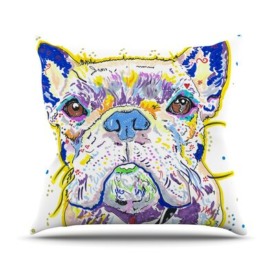 Niko by Rebecca Fischer French Bulldog Throw Pillow Size: 18 H x 18 W x 3 D