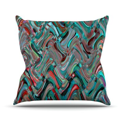 Abstract Wave by Suzanne Carter Abstract Throw Pillow Size: 26 H x 26 W x 5 D