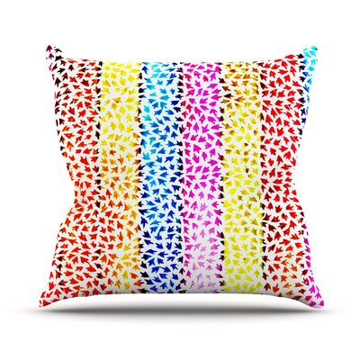 Rainbow Arrows by Sreetama Ray Throw Pillow Size: 20 H x 20 W x 4 D