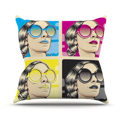 CMYK Fashion by Roberlan Pop Art Throw Pillow Size: 18 H x 18 W x 3 D