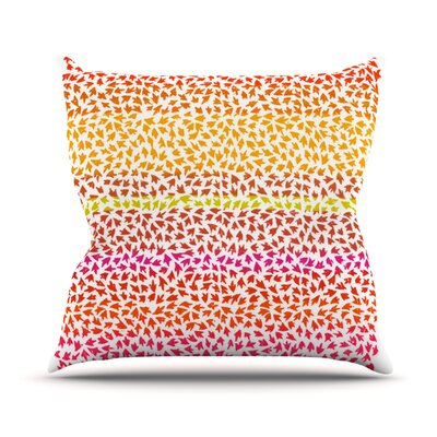 Sunset Arrows by Sreetama Ray Abstract Throw Pillow Size: 20 H x 20 W x 4 D