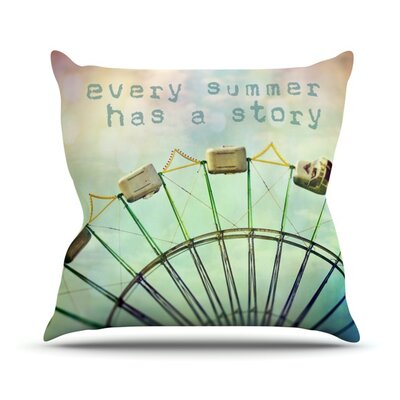 Every Summer Has a Story Throw Pillow Size: 16 H x 16 W