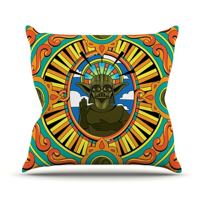 Darth Yoda by Roberlan Star Wars Throw Pillow Size: 20 H x 20 W x 4 D