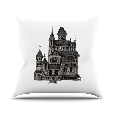 House of Usher by Sophy Tuttle Haunted Throw Pillow Size: 16 H x 16 W x 3 D