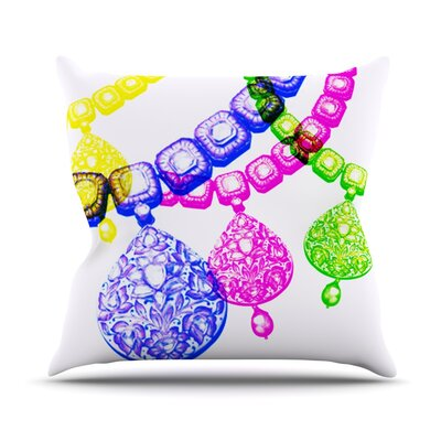 Precious by Sreetama Ray Jewelry Throw Pillow Size: 16 H x 16 W x 3 D