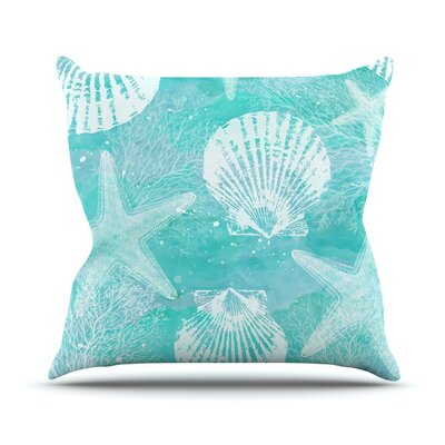 Seaside by Sylvia Cook Throw Pillow Size: 16 H x 16 W x 3 D