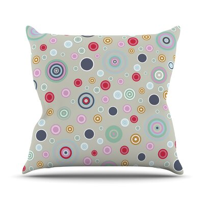 Circle Circle I by Suzanne Carter Throw Pillow Size: 18 H x 18 W x 3 D