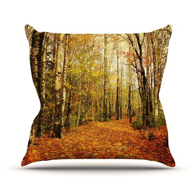 Autumn Leaves by Sylvia Cook Rustic Throw Pillow Size: 16 H x 16 W x 3 D