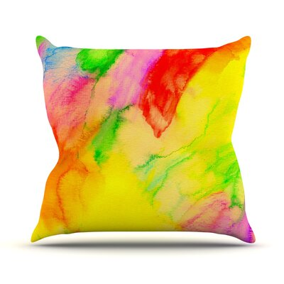 Chemical Lovestory by Sreetama Ray Tags Throw Pillow Size: 18 H x 18 W x 3 D