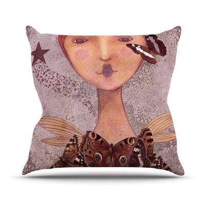 Prudence by Suzanne Carter Portrait Throw Pillow Size: 20 H x 20 W x 4 D
