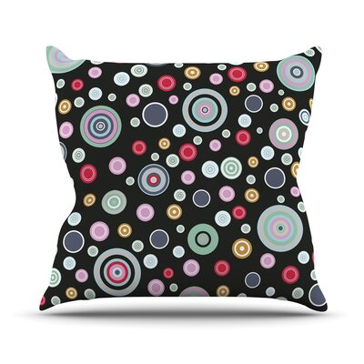 Circle Circle II by Suzanne Carter Throw Pillow Size: 18 H x 18 W x 3 D