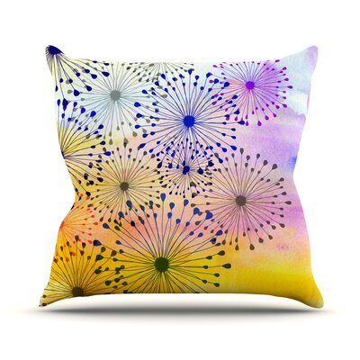 Bursting Blossoms by Sreetama Ray Throw Pillow Size: 18 H x 18 W x 3 D