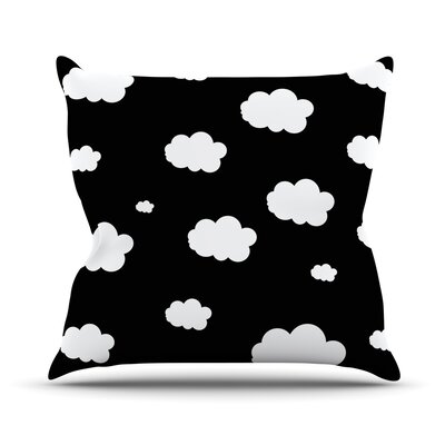 Clouds by Suzanne Carter Throw Pillow Size: 18 H x 18 W x 3 D