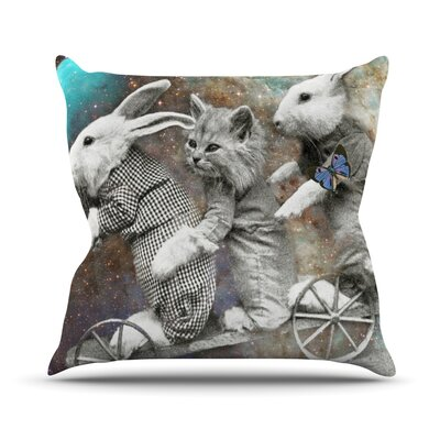 Space Travel by Suzanne Carter Throw Pillow Size: 16 H x 16 W x 3 D