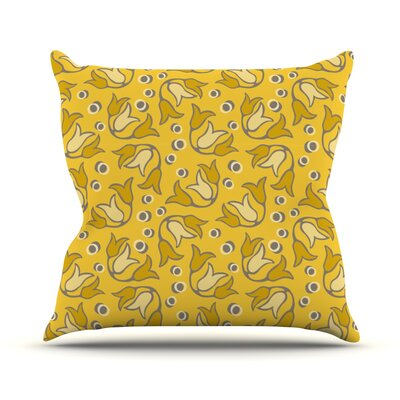 Tulip Toss by Suzie Tremel Throw Pillow Size: 26 H x 26 W x 5 D