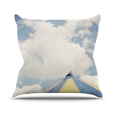 Carnival Tent by Susannah Tucker Sky Clouds Throw Pillow Size: 18 H x 18 W x 3 D