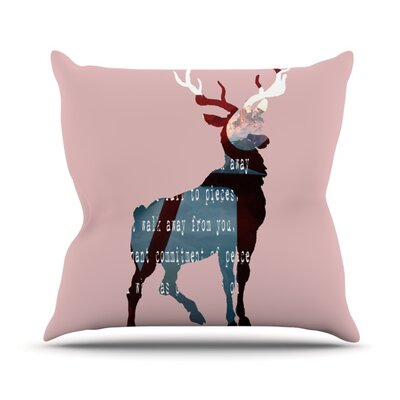 Oh Deer Throw Pillow Size: 18 H x 18 W