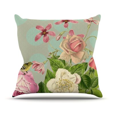 Vintage Garden Cush by Suzanne Carter Flowers Throw Pillow Size: 16 H x 16 W x 3 D