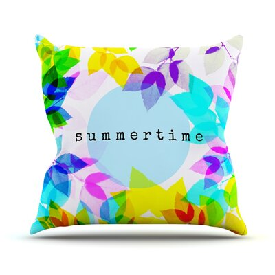 Seasons Summer by Sreetama Ray Rainbow Leaves Throw Pillow Size: 20 H x 20 W x 4 D