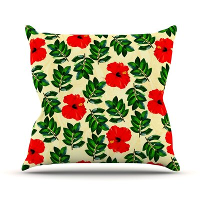 No More Peonies by Sreetama Ray Throw Pillow Size: 18 H x 18 W x 3 D