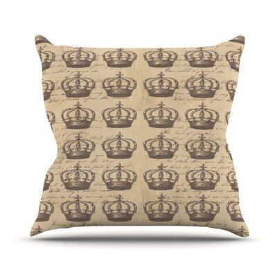 Crowns by Suzanne Carter Throw Pillow Size: 18 H x 18 W x 3 D
