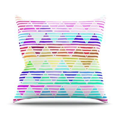 Stripes by Sreetama Ray Rainbow Chevron Throw Pillow Size: 16 H x 16 W x 3 D