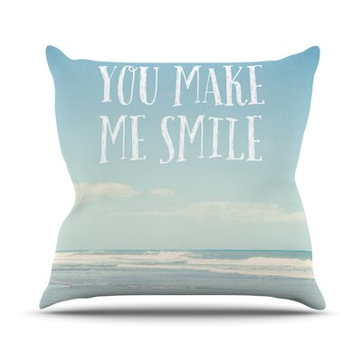 You Make Me Smile by Susannah Tucker Beach Sky Throw Pillow Size: 18 H x 18 W x 3 D