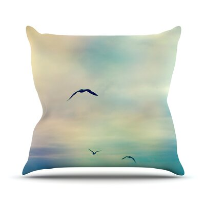 Freedom by Sylvia Cook Birds Sky Throw Pillow Size: 20 H x 20 W x 4 D