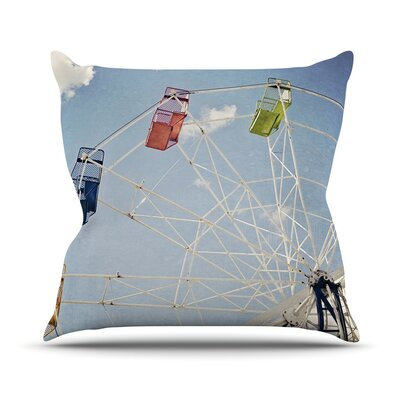 The Show Came to Town by Susannah Tucker Carnival Throw Pillow Size: 16 H x 16 W x 3 D