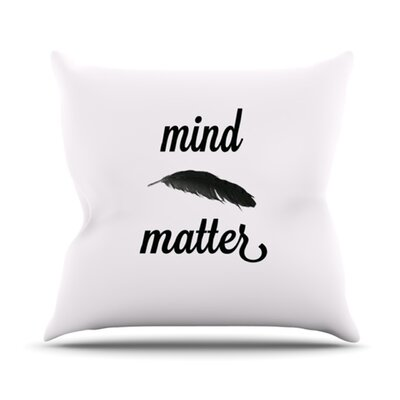 Mind Over Matter II by Skye Zambrana Throw Pillow Size: 26 H x 26 W x 5 D