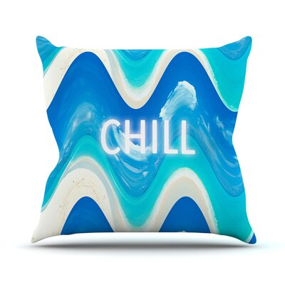 Chill by Vasare Nar Throw Pillow Size: 20 H x 20 W x 4 D