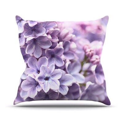 Lilac by Sylvia Cook Flowers Throw Pillow Size: 16 H x 16 W x 3 D