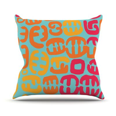Oliver Throw Pillow Size: 26 H x 26 W, Color: Magenta